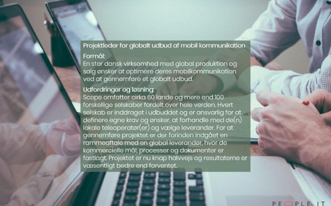 Projektleder for globalt udbud af mobil kommunikation
