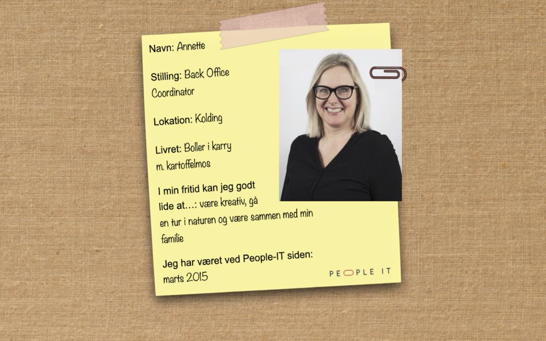 Mød en medarbejder – Annette