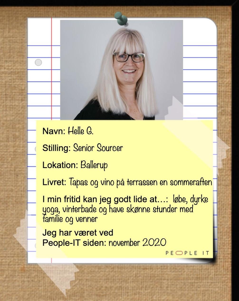 Helle G. People-IT. Freelance IT-konsulent