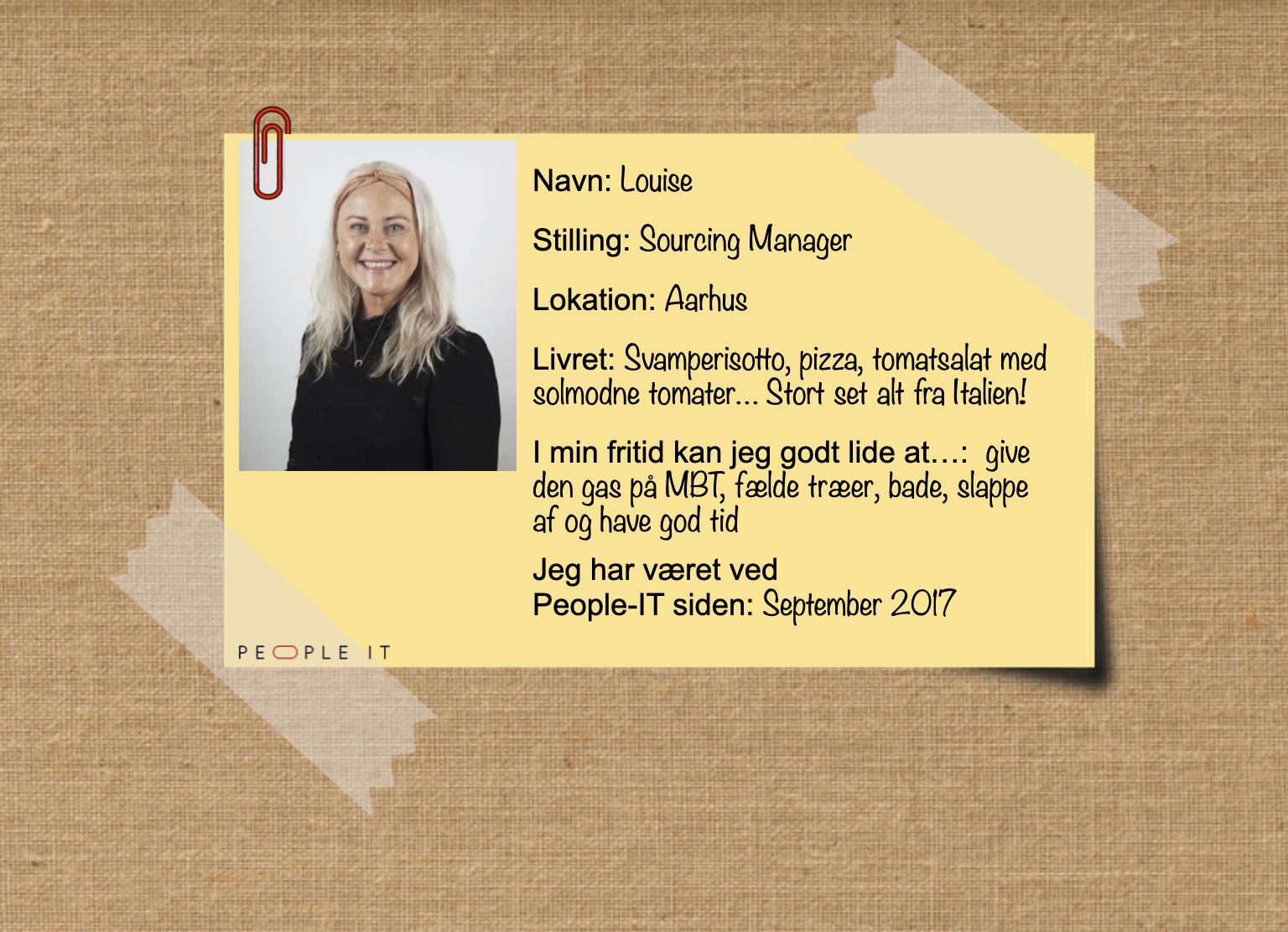 Louise. People-IT. Freelance IT-konsulent