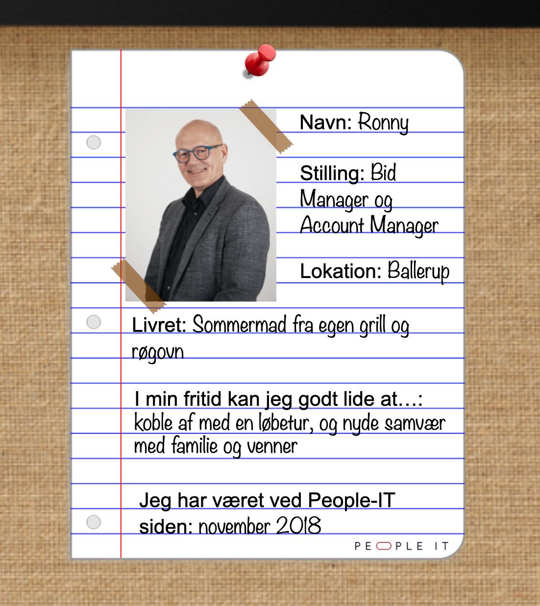 Ronny. People-IT. Freelance IT-konsulent