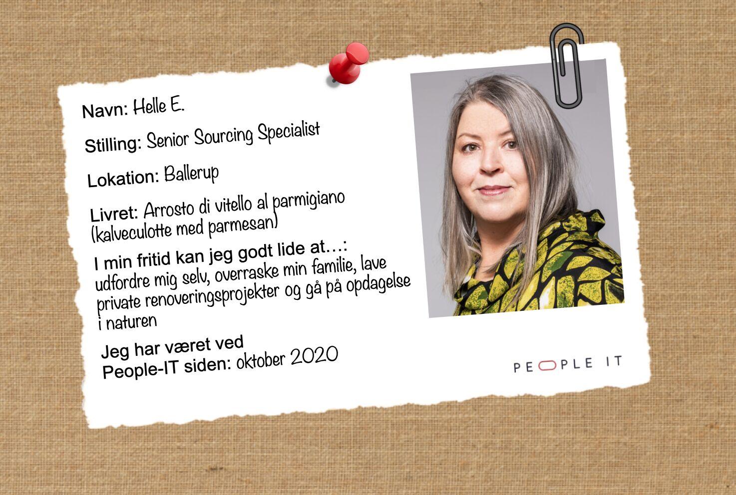 Helle E. People-IT. Freelance IT-konsulent