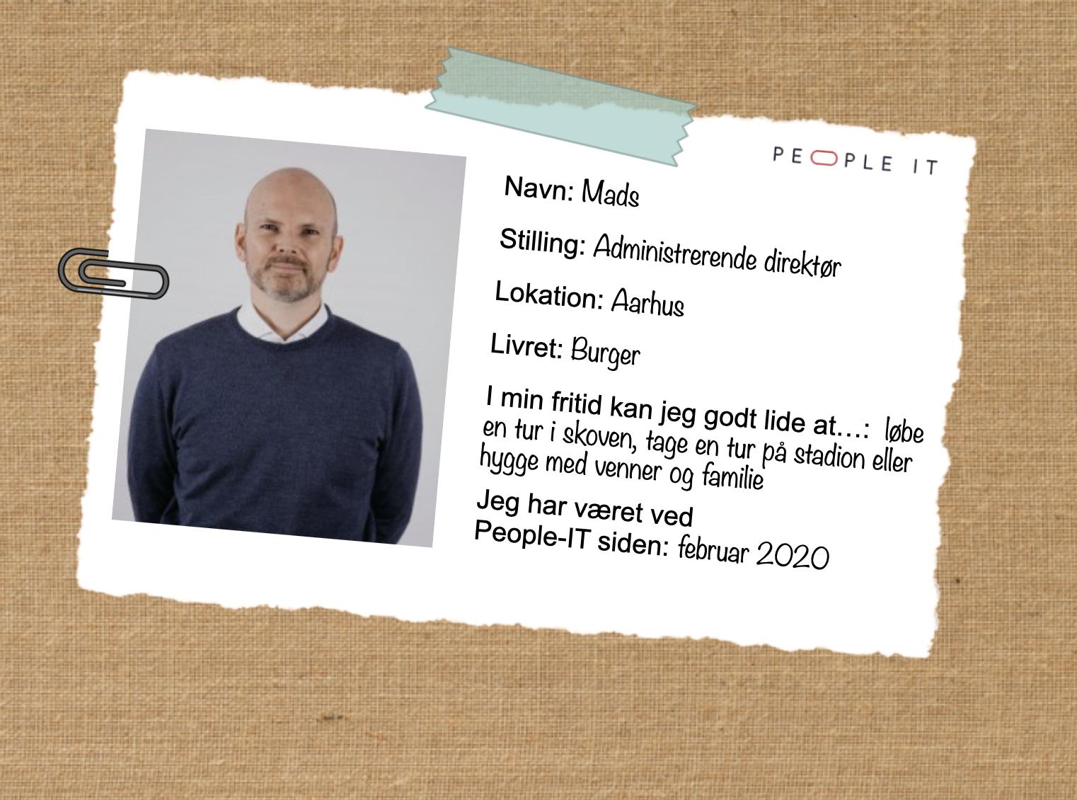 CVS. Mads. People-IT. Freelance IT konsulent