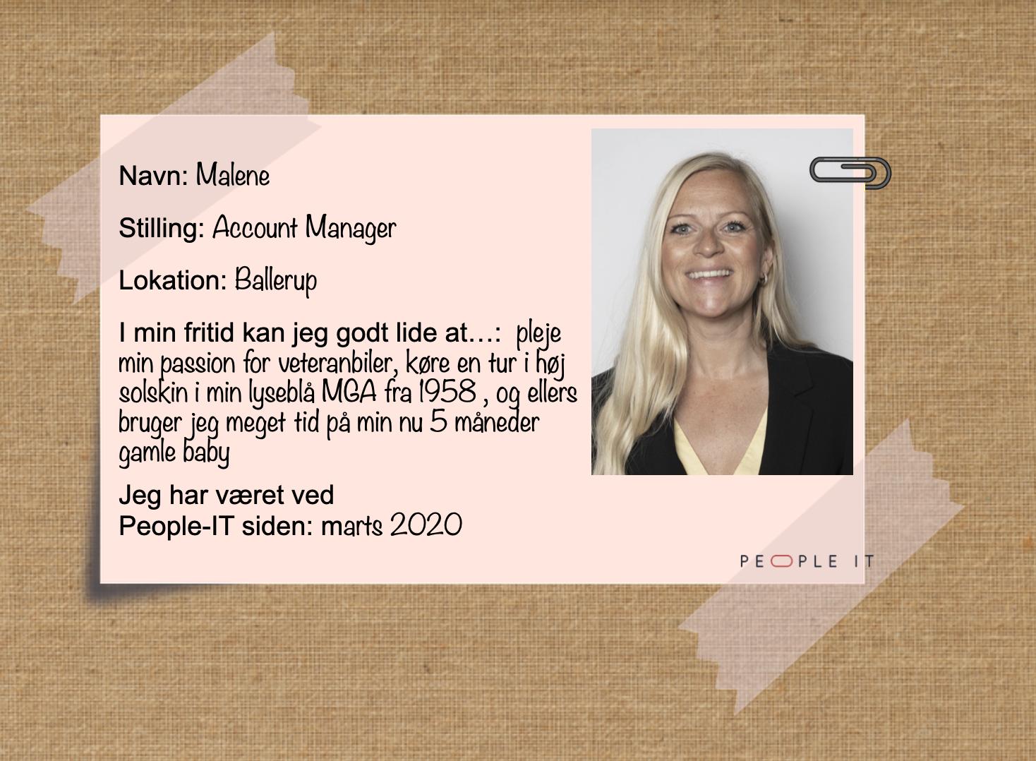 Malene. People-IT. Freelance IT konsulent